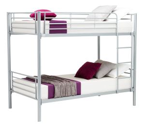 Eight24hours Metal Twin over Twin Bunk Beds Frame Ladder Kids Adult Children Bedroom Dorm