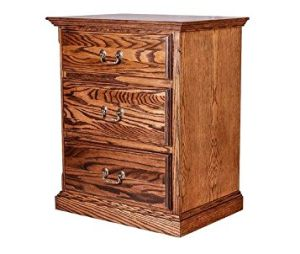 Forest Designs FD-3035- TM- GO Traditional Three Drawer Nightstand, Golden Oak