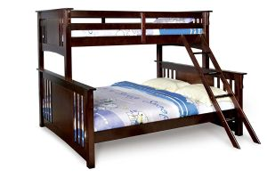 Furniture of America Steven Bunk Bed, Twin Over Queen, Dark Walnut