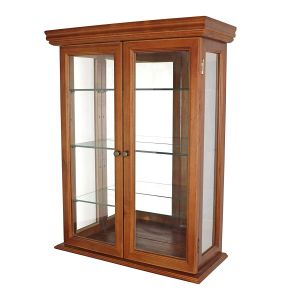 Glass Curio Cabinets - Country Tuscan - Wall Mounted Curio Cabinet