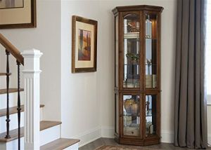 Liberty Hearthstone 5 Side Curio In Rustic Oak