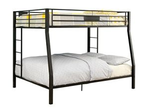 Limbra Full over Queen Metal Bunk Bed in Black
