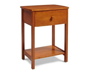 Mantua NSRO Shaker Wood Nightstand, Golden Oak Finish