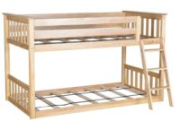 Max & Lily Twin over Twin Low Bunk Bed, Natural