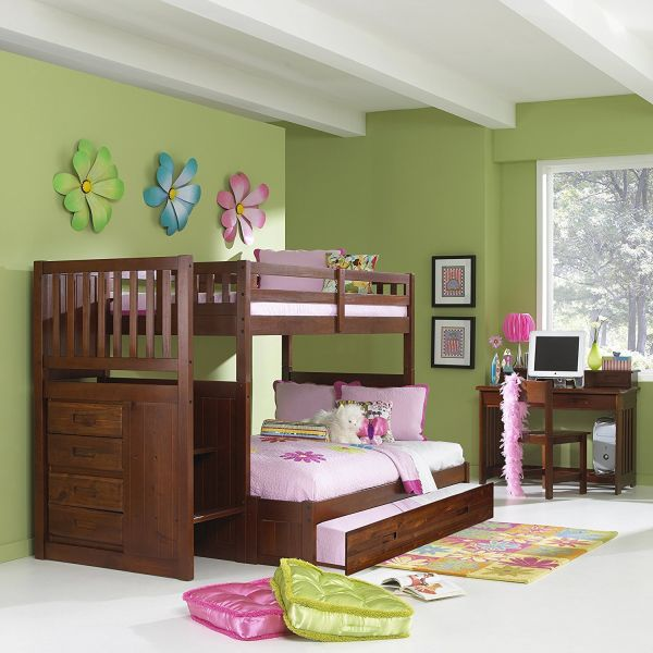 twin over full size staircase bunk bed