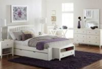 NE Kids Pulse Queen Slat Bed with Trundle in White