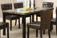 Poundex Faux Marble Top Dining Table