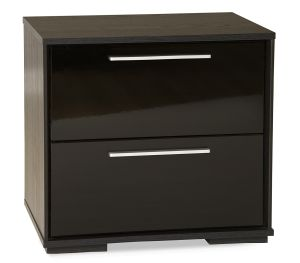 South Shore Mikka 2-Drawer Nigh Stand, Black Oak