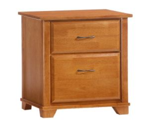Spices Juniper 2 Drawer Nightstand Finish Medium Oak