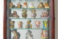 Wall Curio Cabinet Wall Shadow Box Display Case for Figurines, CD06-WA