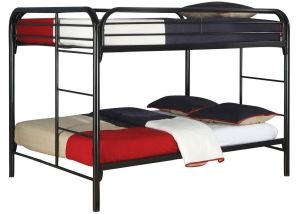 Coaster Fine Furniture 460056k Full Over Full Bunk Bed, Metal Black