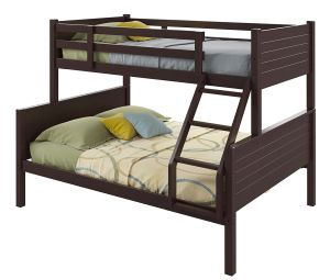 CorLiving BAF-490-B Ashland Bunk Bed, Twin-Over-Full, Dark Cappuccino