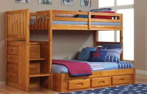 Discovery-World-Furniture-Twin-Over-Full-Staircase-Bunk-Bed-with-3-Drawers-Honey