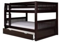 Full Over Full Low Bunk Bed with Mission Headboard