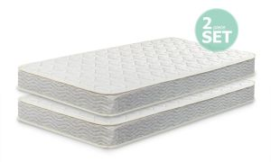 Zinus 6 Inch Spring Twin Mattress 2 pack, Perfect for Bunk Beds Trundle Beds Day Beds