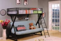 ACME-Furniture-37136-Zazie-Twin-over-Full-Futon-Bunk-Bed-with-Bookshelf-Sandy-Black