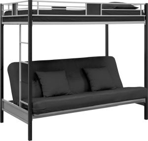 DHP-Screen-Over-Futon-Metal-Bunk-Bed-Silver-Black