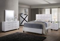 GTU Furniture Contemporary Styling White 4Pc Queen Bedroom Set