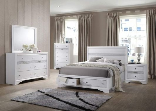 Kings Brand Furniture - 6-Piece Watson Queen Size Bedroom Set. Bed, Dresser, Mirror, Chest & 2 Night Stands