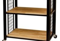 Catskill Craftsman Wood 3-shelf Kitchen Cart