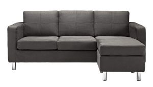 Dorel Living Small Spaces Configurable Sectional Sofa, Gray