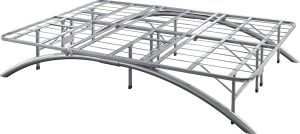 Flex Form Arched Platform Bed Frame/Metal Mattress Foundation, Silver, Queen