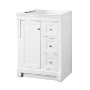 Foremost NAWA2418D Naples 24 W x 18 D x 34 H Vanity Cabinet, White
