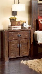 Progressive Furniture Trestlewood Nightstand, Mesquite Pine