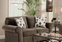 Roundhill Furniture Fabric Loveseat with 2 Pillows, Elizabeth Ash