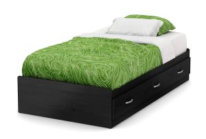 South Shore Furniture 39 Lazer Mates Bed, Twin, Black Onyx