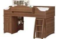 South Shore Imagine Collection Twin Loft Bed with Storage - Morgan Cherry
