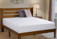 Ecos Living 14 Inch High Rustic Solid Wood Platform Bed Frame with Headboard