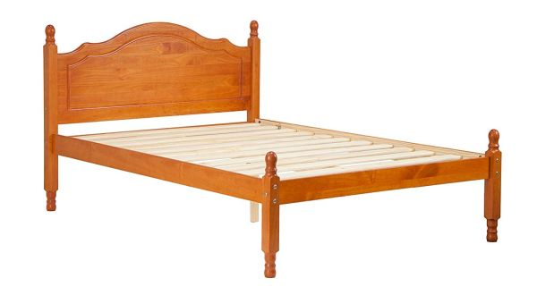 Palace Imports 100% Solid Wood Reston Panel Headboard Platform Bed Full Size Honey Pine Color