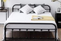 Giantex Queen Size Platform Bed Frame, Metal Bed Frame with Headboard & Footboard, Steel Slat and 9-Leg Support for Mattress Foundation, Box Spring Replacement Home Bedroom Furniture (Black)