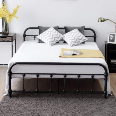 Pros Cons Of Metal Bed Frame You Can, Metal Queen Size Bed Frame With Headboard