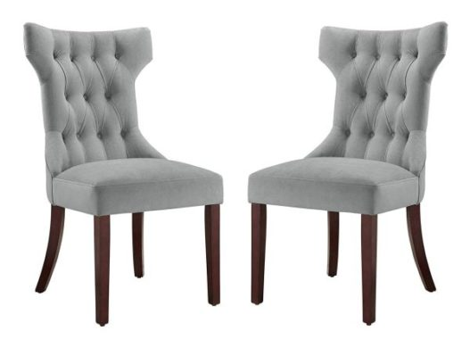 Dorel Living DA6090-PL Clairborne Upholstered dining chair, set of 2, Gray