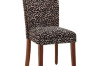 HomePop Parsons Upholstered Accent Dining Chair, Set of 2, Lepord Print