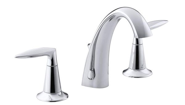 KOHLER Alteo 2-Handle Widespread Bathroom Faucet with Metal Drain Assembly in Polished Chrome, K-45102-4-CP