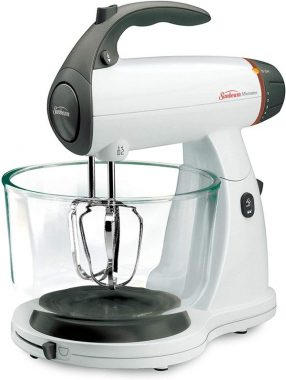 Sunbeam 002371-000-NPO MixMaster 350 Watt, White - Soft-Start Technology Stand Mixer