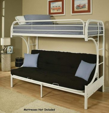 ACME Furniture 02091W-W Eclipse Futon Bunk Bed, Twin Full, White