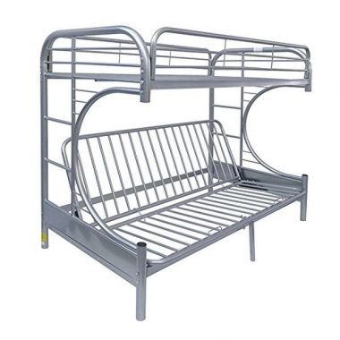 Acme Eclipse Futon Bunk Bed, Twin X-Large Queen, Silver