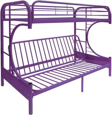 Acme Furniture 02091W-PU Eclipse Futon Bunk Bed, Twin Full, Purple