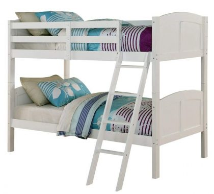 Angel Line Creston Twin Over Twin Bunk Bed, White