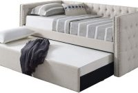 Best Master Furniture Laura Tufted Daybed + Trundle, Twin, Grey