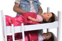 Bunk Bed for Twin Dolls fits 18 Inch Dolls