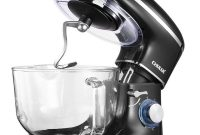 CHULUX-Electric-Stand-Mixer-660W-Tilt-Head-Kitchen-Electric-Food-Mixer-with-Low-Noisy-5.5Qt-Glass-Bowl-6-Speed-Control-Dough-Hook-Whisk-Beater-Splash-Guard-for-Cake-Bread-Salad