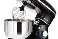 COSTWAY-Stand-Mixer-6.3-Qt-660W-6-Speed-Electric-Mixer-with-Stainless-Steel-Bowl-Tilt-Head-Food-Mixer-with-Dough-Hook-Beater-Whisk-Black