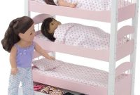 Emily Rose 18 Inch Doll Bed Doll Furniture Doll Triple Bunk Bed, Includes 3 Stackable Single Doll Beds and 18 Inch Doll Clothes Storage Drawer Fits 18 American Girl Dolls Doll Furniture