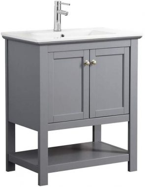 Fresca Manchester 30 Gray Traditional Bathroom Vanity