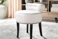 Safavieh Mercer Collection Georgia Vanity Stool, White
